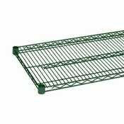 Excellante Epoxy Coating Wire Shelves with 4 Set Plastic Clips, 14