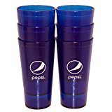 New (6) Pepsi Cola Restaurant Blue Globe Plastic Tumblers Cups 24 oz Carlisle