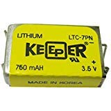 Eagle Picher LTC-7PN Battery Lithium 3.5 V, 750 mAh - Keeper II battery Replacement (COMP-88)