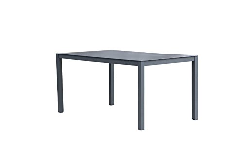 Westfield Outdoors Home & Garden Beryl Outdoor Garden Dining Table in Aluminium with Glass Table Top - Water Repellent, Flame Retardant and UV Resistant (Sets Furniture Conservatory Uk)