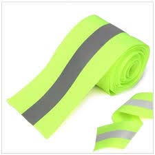 Just In Trend - Flame Resistant FR Sew On High Visibility Hi Vis Retro reflective tape (2'' x 25 yds, Lime/Silver) by Just In Trend (Image #2)