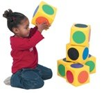 Children's Factory Match the Dot Blocks - Set of 6