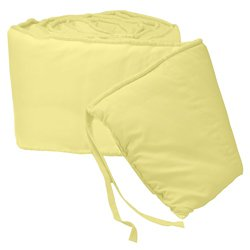 BabyDoll Tailored Baby Cradle Bumpers, Yellow, 18