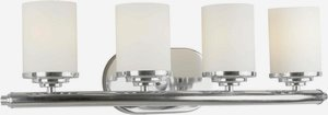 Forte Lighting 5105-04-05 Bath Vanity with Satin Opal Glass Shades, Chrome -