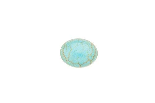 40pcs 8x10mm Oval imitation turquoise - Turquoise Imitation Beads