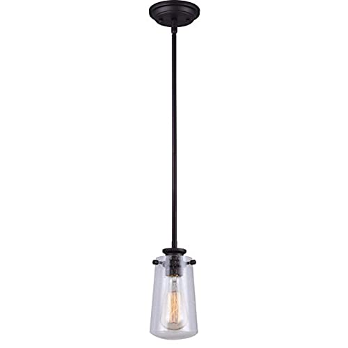 Seeded glass pendants amazon canarm ipl623a01orb ltd mill 1 light rod pendant seeded glass oil rubbed bronze aloadofball Image collections