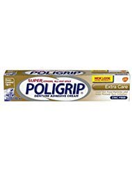 - SUPER POLIGRIP Denture Adhesive Cream Extra Care 2.20 oz (Packs of 2)