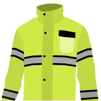 KwikSafety (Charlotte, NC) TORRENT Class 3 Safety Trench Coat | High Visibility Waterproof Windproof Safety Rain Jacket | Hi Vis Reflective ANSI Work Wear | Rain Gear Hideaway Hood Carry Bag | Large by KwikSafety (Image #1)