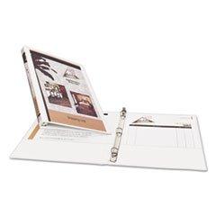 1/2 Capacity White Binders - (3 Pack Value Bundle) AVE05706 Economy Vinyl Round Ring View Binder, 1/2