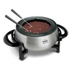 Rival 3-Quart Fondue Pot Model FD325-S ~ Brushed Stainless Steel with Non-Stick Interior ~ FREE Set of 8 Fondue Forks