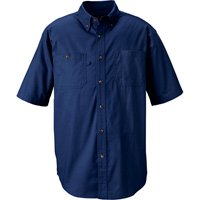 Gravel Gear Wrinkle-Free Short Sleeve Work Shirt with Teflon - Blue, Large by Gravel Gear (Image #1)