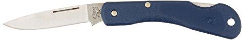 Case Blue Mini Black Horn Pocket Knife (Small Trapper Knife)