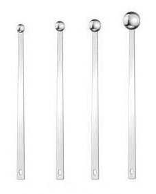 - Extra Long Handle stainless steel measuring spoons/scoops; one set of 4 sizes