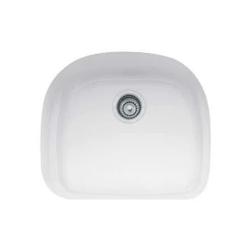 (Franke Prestige Undermount Fireclay Kitchen Sink PRK11021WH White)