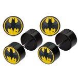 Body Accentz™ Earrings Rings Fake Batman Cheater Plug 16 gauge - Sold as a pair