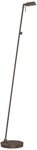 George Kovacs Chrome Floor Lamp - George Kovacs Copper Bronze Tented LED Pharmacy Floor Lamp