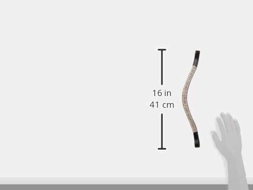 Cwell Equine Funda Look U Blanco Claro Cristal frontalera para Caballo Gran Regalo elecci/ón de 4/tama/ños Negro