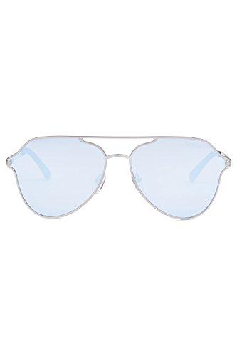 Aviateur Célébrité Argenté Hommes de Lunettes Miroir NOROZE Modéliste Unisexe Bleu Rétro Femmes Soleil Polarisé Style Teintes IPIOwq