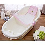 Baby Adjustable Bath Seat Baby Bath Net Safety Security Seat(pink) - 4