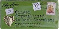 Chocolove Xoxo Dark Chocolate Bar Crystallized Ginger 3.2 Oz -Pack of 12 - Chocolove Chocolate Crystallized Ginger