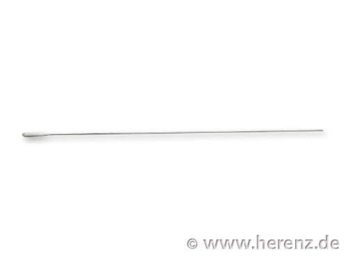Wattestäbchen Walu Aluminiumstab 150x0.9-1.0 mm einseitiger Baumwollkopf Ø ca. 2 mm Länge ca. 12 mm. Beutel à 100 St. Heinz Herenz Medizinalbedarf
