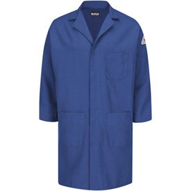 Bulwark174; Unisex Concealed Snap Front Lab Coat, Royal Blue, Nomex/Aramid, XL ()