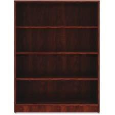 (Lorell Laminate Bookcase, 4-Shelf, 48