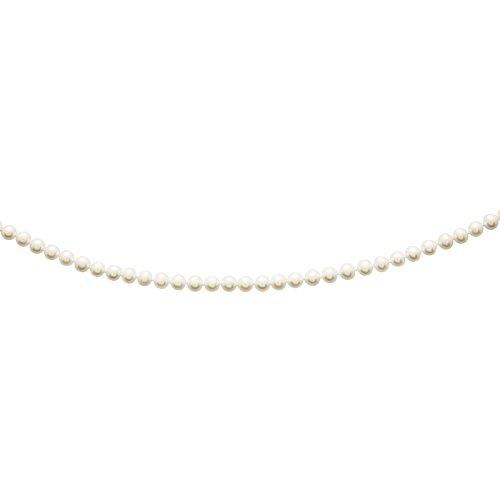 So Chic Bijoux © Collier Femme 45 cm Perles Eau Douce 7 mm Crème Ivoire Or Jaune 750/000 (18 carats)