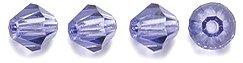 Tanzanite Crystal Bead - Preciosa 4-Mm Czech Crystal Diamond/Bicone Bead, Tanzanite, 144-Piece