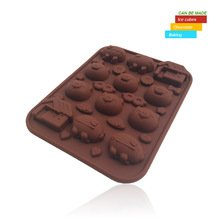 Children Love DIY Cute Pig Silicone Cake Mold And Chocolate Makers Ice Cube Tray Cake Tools