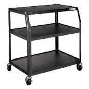 "UPC 089191638056, Hon PFUL35P Black 35"" Wide Body TV Cart, 36 1/4"" x 28 3/4"" x 44"" (HONPFUL35P) Category: AV Carts"