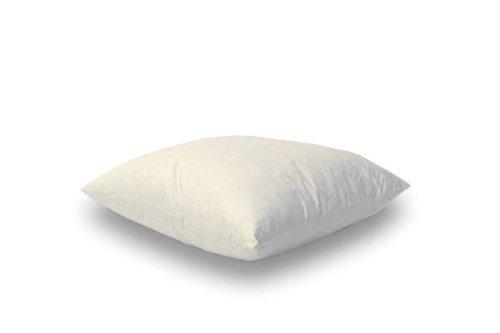 Kuscheliges Daunenkissen 40 x 40 cm Bezug reine Baumwolle Creme (2 er Set)