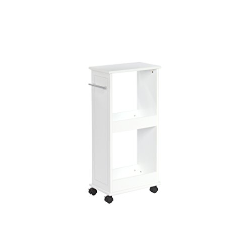 Cheap RiverRidge Rolling Side Cabinet with Shelves, White