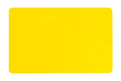 (Pack of 100 Premium Graphic Quality Yellow PVC Cards CR80 30 Mil Standard Credit Card Size by My ID City)