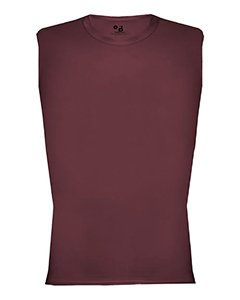 Badger 4631 Unisex Adult Adult Pro Compression Sleeveless Tee Polyester Maroon ()