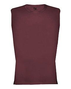 Badger 4631 Unisex Adult Adult Pro Compression Sleeveless Tee Polyester Maroon Medium