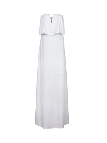 Blooming Jelly Women's Casual Ruffles Maxi Long Dress, White, small