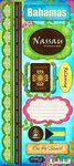 Bahama Collection (Scrapbook Customs - World Collection - Bahamas - Cardstock Stickers - Paradise)