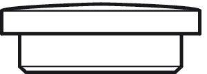 Kappen rund zum Eindr/ücken Gesamt /Ø 17 mm 20 St/ück Gedotec Lochabdeckungen universal Abdeckkappen Holz f/ür Blind-Bohrung /Ø 15 mm Massivholz Eiche naturbelassen
