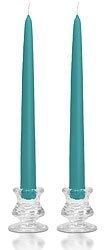 15 Inch Mediterranean Blue Taper Candles ()