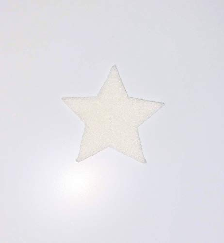 Novelty Adhesive Backed Felt Star- Pack of 10 (White, 2