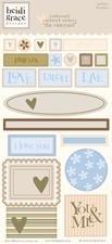 Heidi Grace Designs - Heidi Grace Designs Embossed Shapes Cardstock Stickers - Woodland
