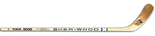 Rene Bourque Signed Hockey Stick Bruins Sher-Wood 5030
