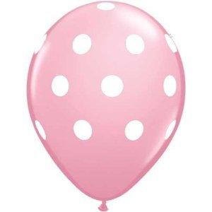Amazon.com: 12 Light Pink Dot Polka Dot Balloons - Made in USA: Toys & Games