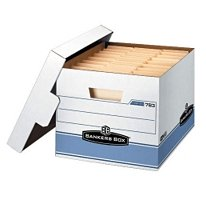 "Bankers Box Heavy Duty Storage Boxes 10x12x15"" 10 Pack"