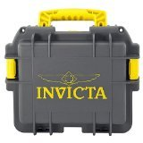 Invicta Collectors Three Slot Watch Box in Grey and Yellow DC3GREY-YEL