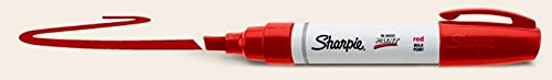 Sharpie Oil-Based Paint Marker, Bold Point, Red Ink, Pack of 3
