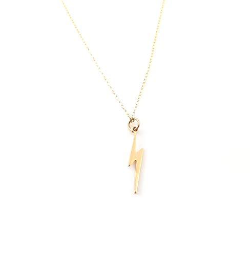 Lightning Bolt Charm Necklace - 14k Gold Filled Jewelry
