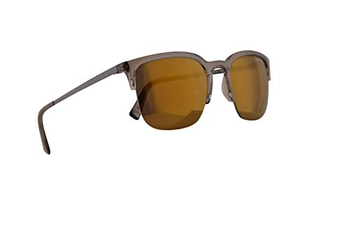 (Armani Exchange AX4081S Sunglasses Transparent Tundra w/Brown Mirror Bronze Lens 54mm 82717D AX)