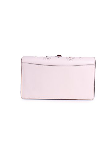 Clutch Over Fold Tea Womens Crossbody Cut COACH Chalk Li Rose Out YRw8Cx6q